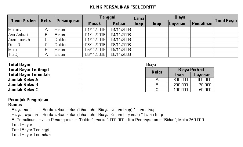 Contoh Soal Microsoft Excel 2007 Fungsi If And Entrancementcoupon